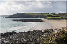 SW8031 : Gyllyngvase Beach, Falmouth, Cornwall by Christine Matthews