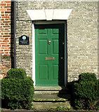 TM0890 : Entrance doorway of Saffron House by Evelyn Simak