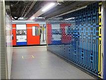 TQ2879 : Victoria tube station, Victoria Line - ceramic tiles (3) by Mike Quinn