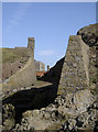 ST2859 : Where the walls meet the rocks by Neil Owen