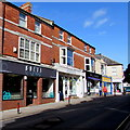 SY2998 : Bolts, West Street, Axminster by Jaggery