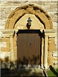SP2545 : Arch and south door by Philip Halling