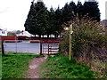 ST2887 : Western Avenue gates, Newport by Jaggery