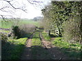 TL2631 : Gate and horse stile on green lane, Clothall by Humphrey Bolton