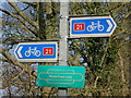 TQ5806 : Cycle route sign by Oast House Archive