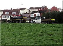 ST3090 : Welsh Water vehicles in Alder Grove, Malpas, Newport by Jaggery