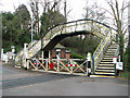 TG3207 : Pedestrian bridge over the railway line at Brundall by Evelyn Simak