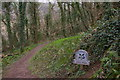 SX1451 : Hall Walk around Pont Pill: entrance to National Trust land by Christopher Hilton