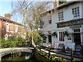TQ3296 : The Crown & Horses and New River in Enfield by Marathon