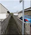 SS8178 : Public footpath between suburban walls, Porthcawl by Jaggery