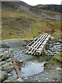 NY2319 : Temporary bridleway crossing, Yewthwaite Gill by Christine Johnstone