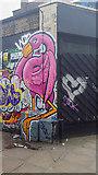 TQ3382 : Graffiti on Corner of Shoreditch High Street by Christine Matthews
