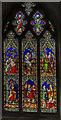 TA0977 : Stained glass window, All Saints' church, Hunmanby by Julian P Guffogg