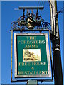 TM2037 : The sign of 'The Foresters Arms' now derelict by Adrian S Pye