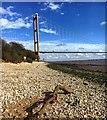 TA0125 : Driftwood on the Hessle foreshore by Graham Hogg