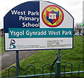 SS8178 : West Park Primary School nameboard, Nottage, Porthcawl by Jaggery