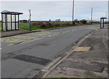 SS8178 : West Road bus stops and shelters, Nottage, Porthcawl by Jaggery