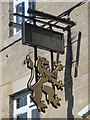 NY9864 : Sign for The Golden Lion, Hill Street / Princes Street by Mike Quinn