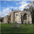 TL2445 : Eyeworth: All Saints - from the east by John Sutton