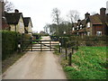 TL1328 : Gate on Little Offley driveway by Humphrey Bolton