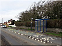 SS8178 : West Road bus stop and shelter, Nottage, Porthcawl by Jaggery
