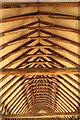 TL4847 : Duxford Chapel roof by Richard Croft