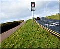 SS8077 : Warning sign - Pedestrians crossing, Mallard Way, Porthcawl by Jaggery