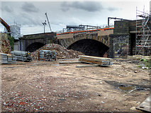 SJ8297 : Ordsall Chord, Revealing Stephenson's Bridge by David Dixon