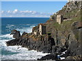 SW3633 : The Crowns engine houses at Botallack Mine by Gareth James