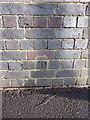 SP1091 : OS benchmark - Gravelly Hill, Fentham Road railway bridge by Richard Law