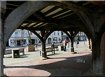SP7387 : Underneath the Old Grammar School, Market Harborough by Mat Fascione