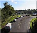 ST2995 : Cwmbran Drive towards Aldi, Cwmbran by Jaggery