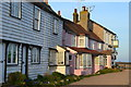 TL8706 : Houses and pub by the lock at Heybridge Basin by David Martin