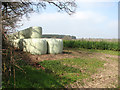TG1108 : A stack of silage bales by Bungalow Farm by Evelyn Simak