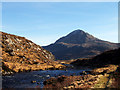 NC2545 : The River Laxford &Ben Stack by Donald H Bain