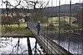 NN7447 : Suspension footbridge near Fortingall by Jim Barton