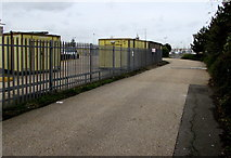 SZ6599 : Access road to Fratton Traincare Depot, Portsmouth by Jaggery