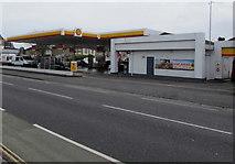 SZ6599 : Shell filling station, Goldsmith Avenue, Portsmouth by Jaggery