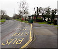 ST2795 : Hafren Road bus stop and shelter, Thornhill, Cwmbran by Jaggery