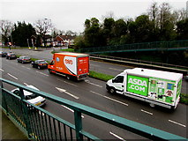 ST3091 : Delivery vehicles, Malpas, Newport by Jaggery