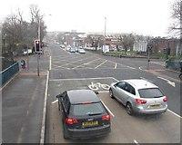J3472 : The Ormeau Road/Ormeau Embankment Cross Roads by Eric Jones