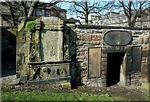 NT2674 : Old Calton Graveyard Stones by Mary and Angus Hogg
