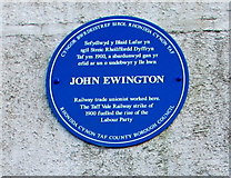 ST0894 : John Ewington blue plaque, Abercynon by Jaggery