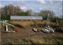 TA0623 : Shed and boats at Barrow Haven by Jonathan Thacker