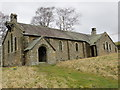 NY9442 : The now closed and derelict Church of St John at Rookhope by Peter Wood