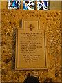 TG3725 : WW2 War Memorial in Stalham church by Adrian S Pye