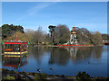 TA0389 : Bandstand in the lake, Peasholm Park  by Stephen Craven