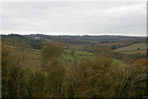 SX1061 : Looking up the Fowey valley from Restormel Castle by Christopher Hilton