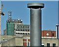 J3473 : Sewer ventilation pipe, Cromac Street, Belfast (April 2017) by Albert Bridge