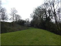 TM2863 : Path near Framlingham Castle by Hamish Griffin